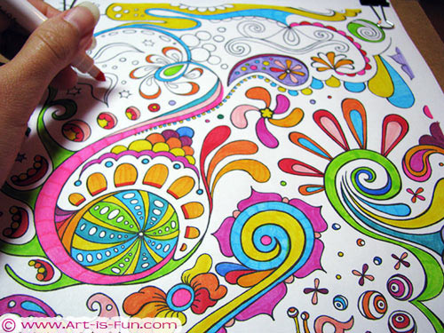 Free Abstract Coloring Page to Print