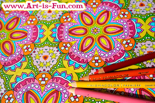 Free Printable Abstract Coloring Page by Thaneeya