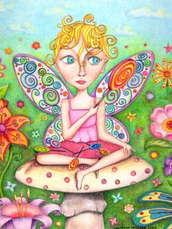 Fairy Colored Pencil Art by Thaneeya