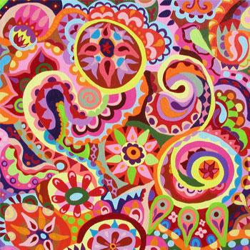 坦尼雅的丙烯抽象画