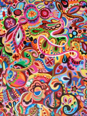 多彩抽象艺术由thaneeya