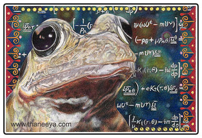 """Cosmic Frog - 4"""" x 6"""" - Prismacolor Colored Pencils on paper"""