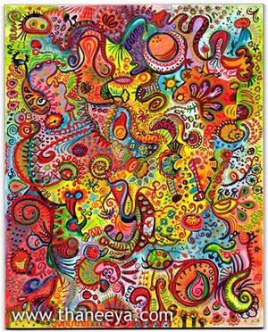 Thaneeya McArdle的抽象艺术音新利18在线娱乐乐
