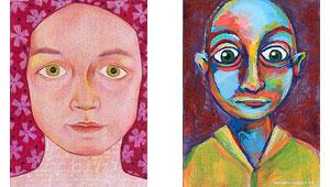 肖像可以有不同的颜色方案