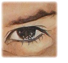 肖像眼睛水彩