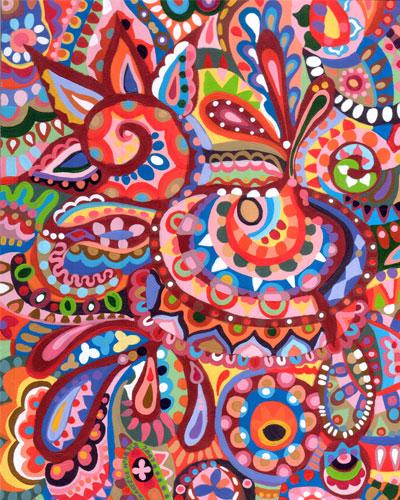 Thaneeya的抽象艺术风格