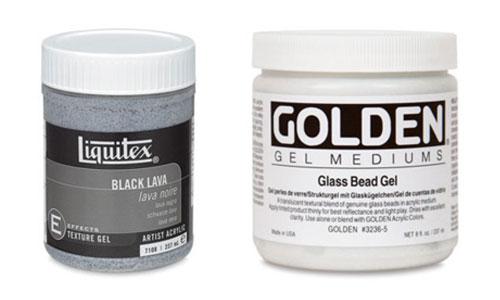 Acrylic Mediums, Texture Gels