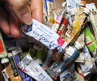 Watercolor tubes sample