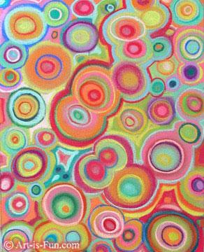 我用彩色粉笔画的抽象画之一
