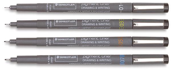Staedler颜料班轮素描笔套装
