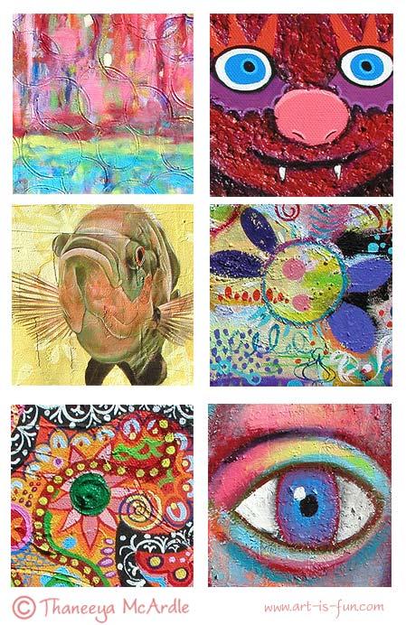 Acrylic Texture Medium Paintings
