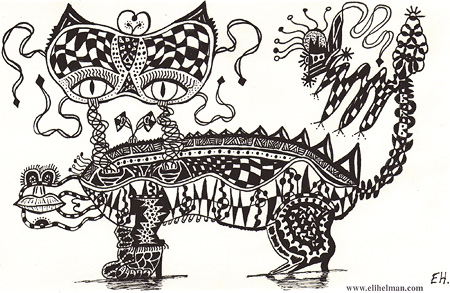 Detailed Pen and Ink Drawings by Eli Helman