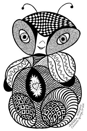 Doodle Bug Art by Dia Stafford
