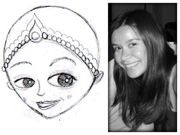 Whimsical Pencil Sketch Portrait