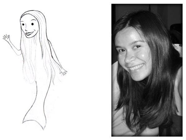 Whimsical Mermaid Doodle Sketch