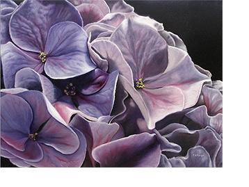 紫色绣球花艺