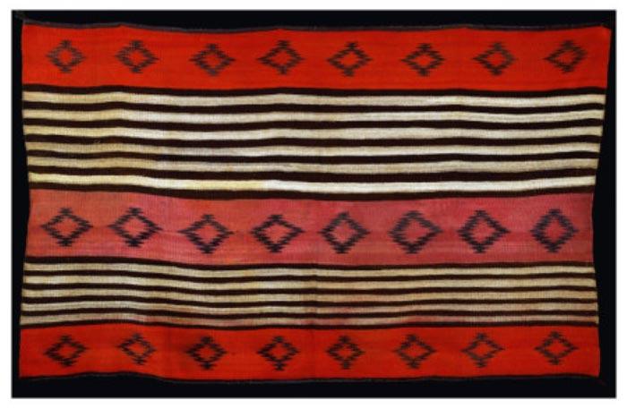过渡时期纳瓦霍妇女的毯子
