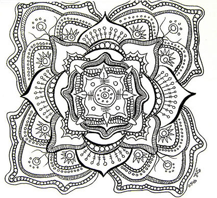 Mandala Drawing by Stephanie Smith