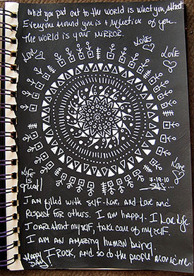 White Mandala on Black by Stephanie Smith
