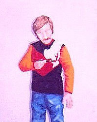 Self-Portrait in Acrylics