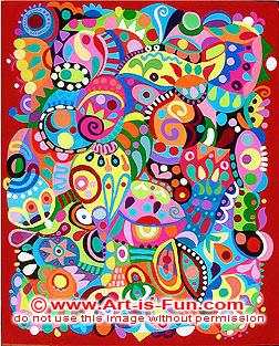 抽象绘画流行艺术