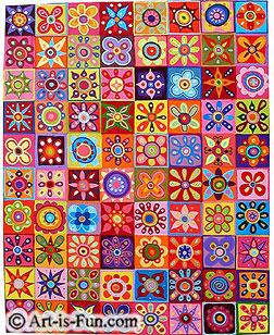 Thaneeya的抽象花卉绘画