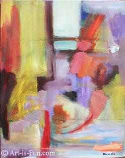 Thaneeya的抽象表达主义绘画