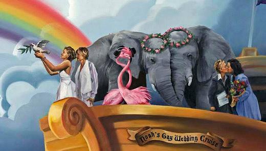 close-up of Noah's Gay Wedding Cruise, by Paul Richmond