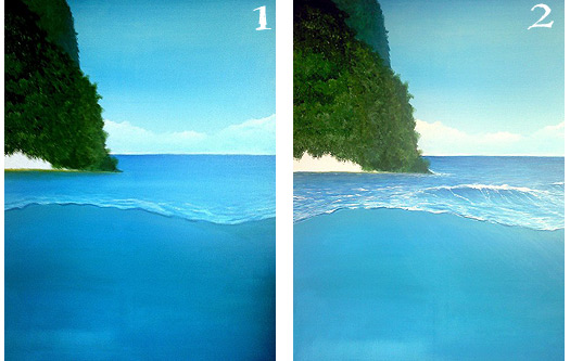How to Paint Ocean Art by Alan Minshull