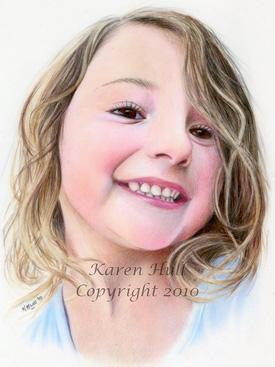Realistic Colored Pencil Portrait Art