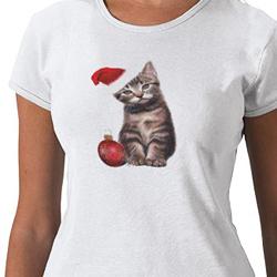 Cute Santa Cat Shirt