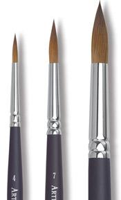 Round Kolinsky Sable Brushes