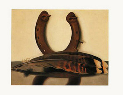 Turkey Feather with Horseshoe