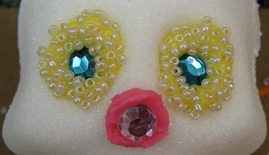 Beads and Gems in Sugar Skull Eyes