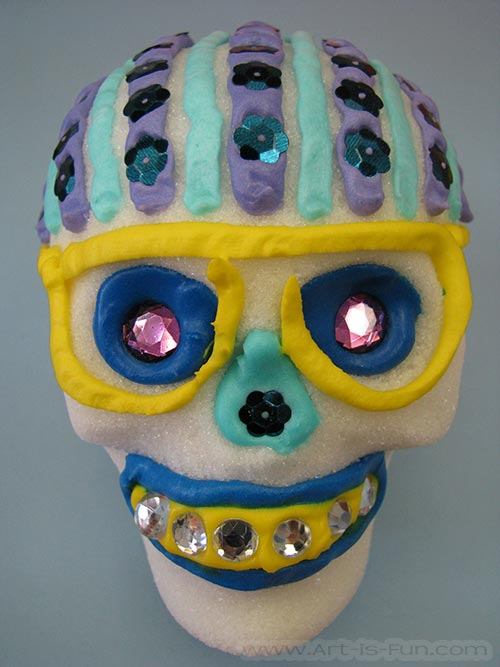 Day of the Dead Sugar Skull with Glasses
