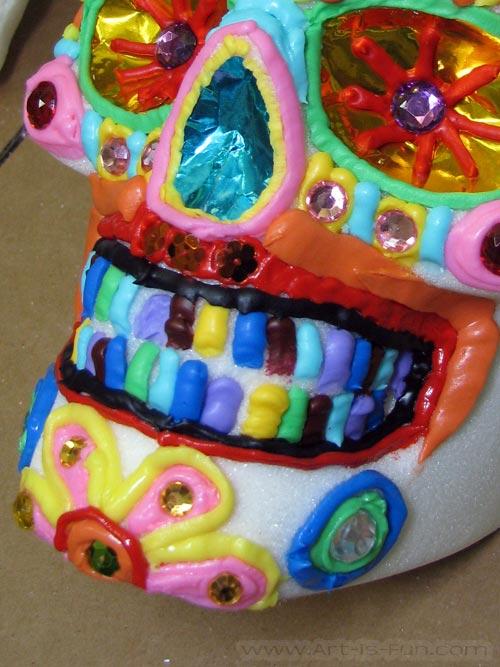 糖骷髅装饰与Thaneeya