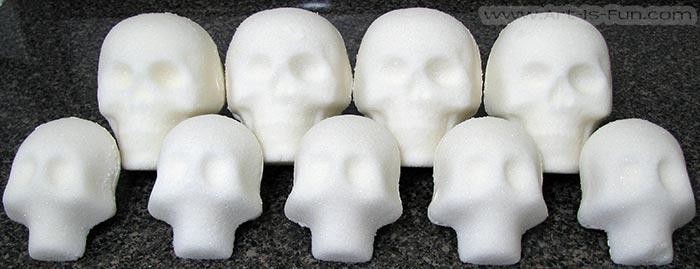 White Sugar Skulls