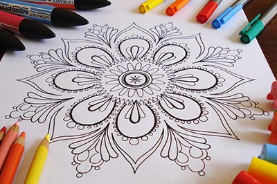Mandala Coloring Page by Thaneeya McArdle
