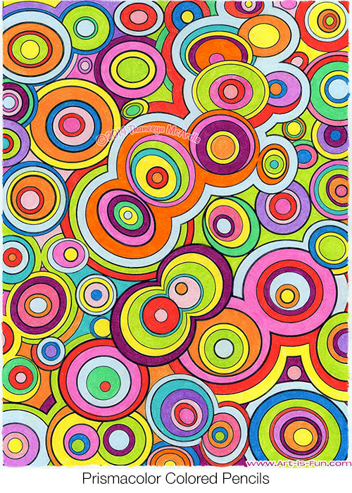 Colorful Abstract Coloring Page from the Groovy Abstract Coloring Book by Thaneeya McArdle