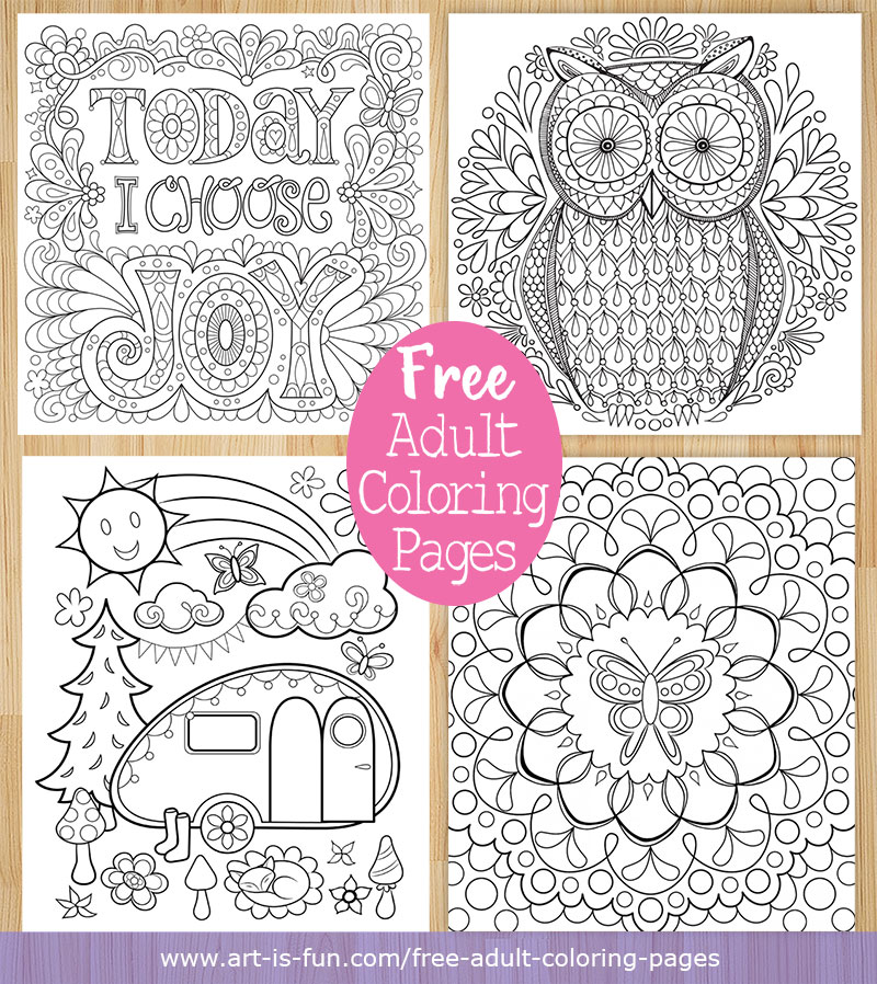 - Free Adult Coloring Pages: Detailed Printable Coloring Pages For Grown-Ups  — Art Is Fun