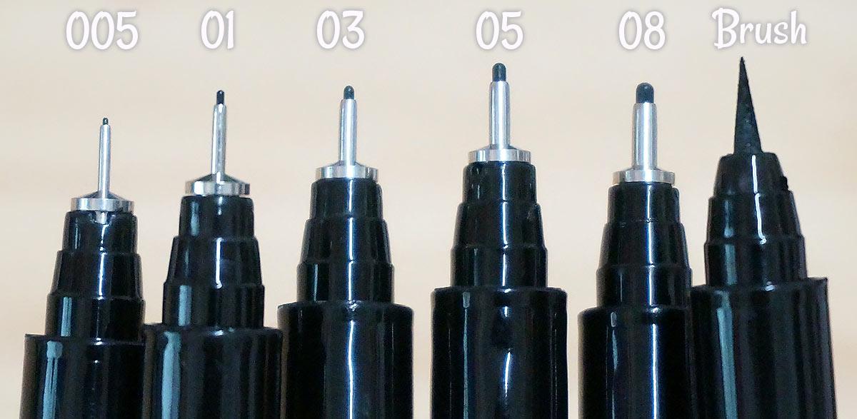 Spectrum Noir Artliners Nib Sizes