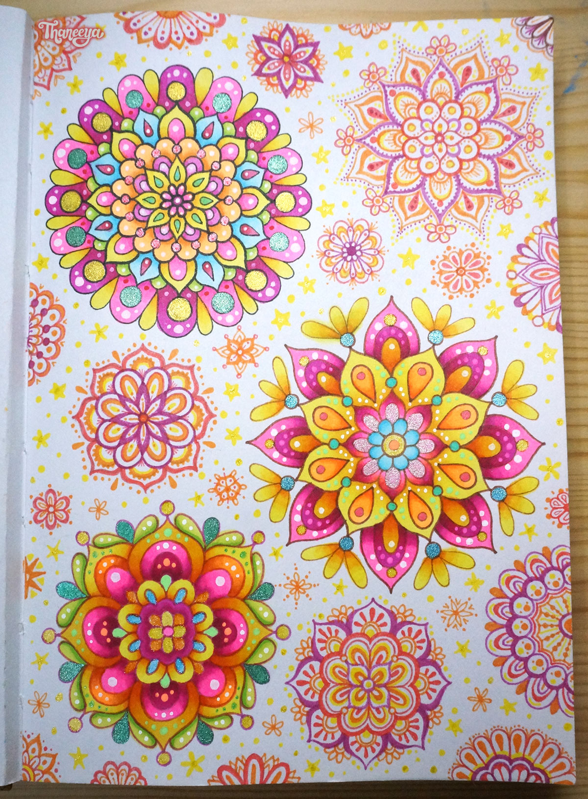 Spectrum Noir Mandala Doodles by Thaneeya McArdle