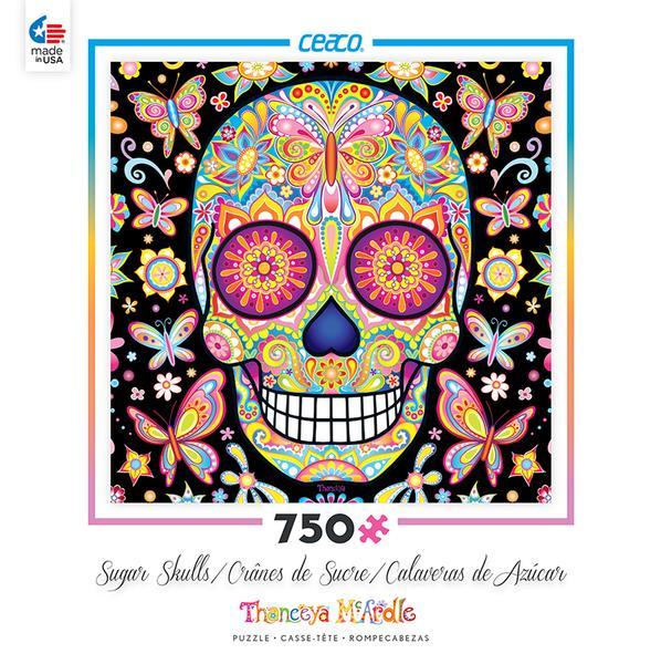 Mariposa Sugar Skull Jigsaw Puzzle by Thaneeya McArdle