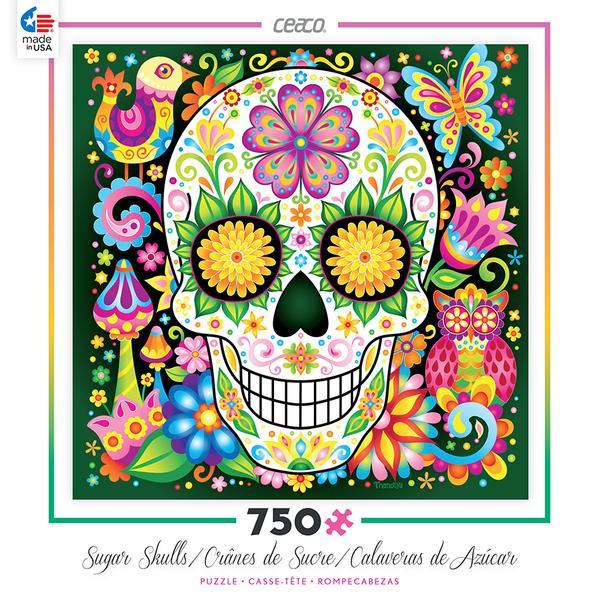 Jardin Sugar Skull Jigsaw Puzzle by Thaneeya