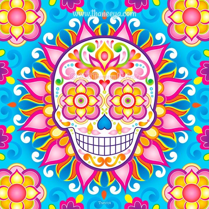 Liminal Sugar Skull by Thaneeya McArdle