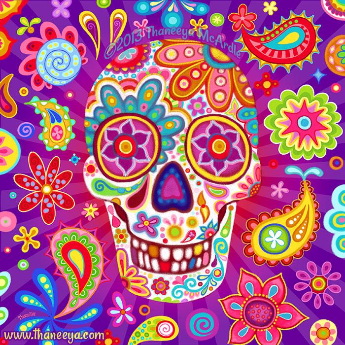 Bobo Chalk Sugar Skull Art by Thaneeya McArdle