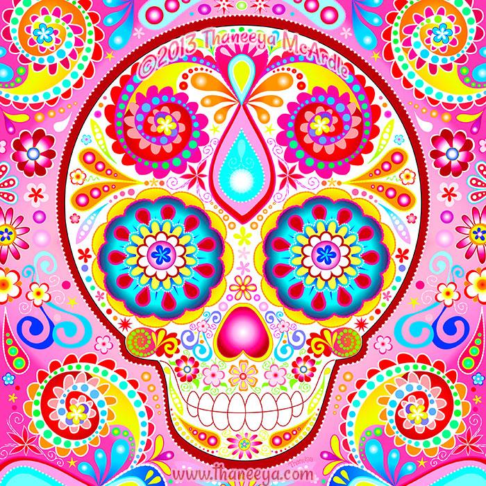 Desi Sugar Skull Art by Thaneeya McArdle