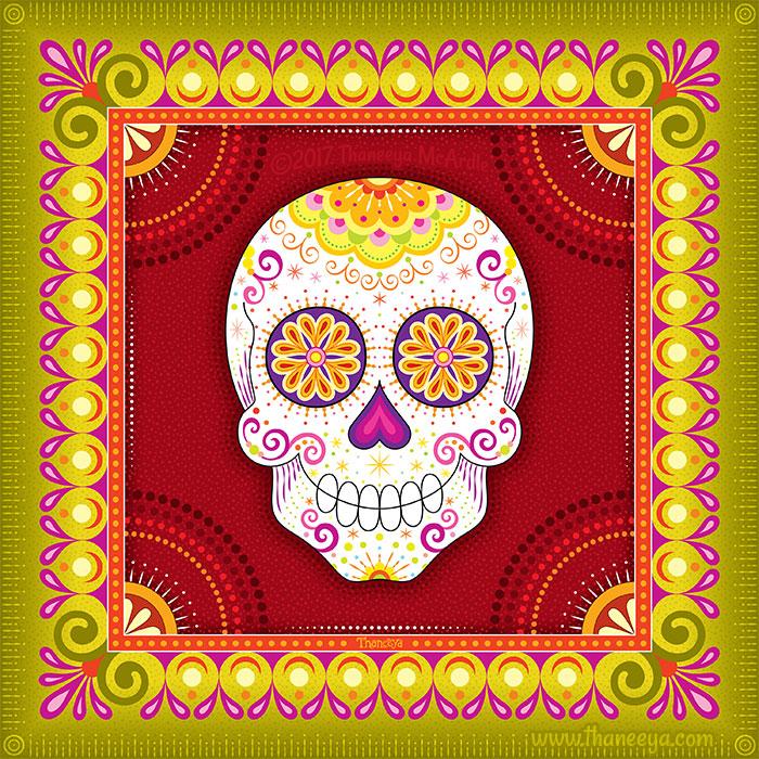 Gano Sugar Skull Art by Thaneeya McArdle