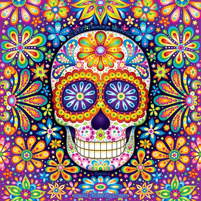 Infinite Sugar Skull Art by Thaneeya McArdle