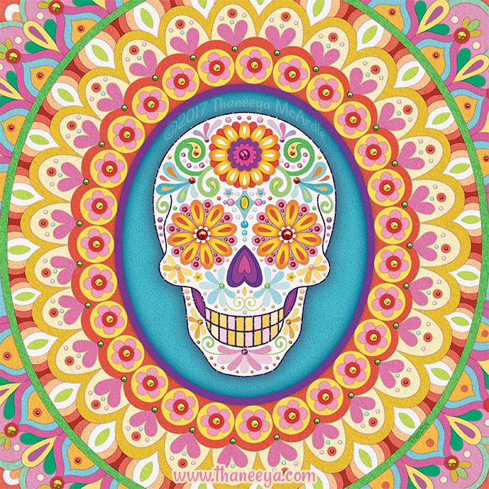 Sierra Sugar Skull Art by Thaneeya McArdle